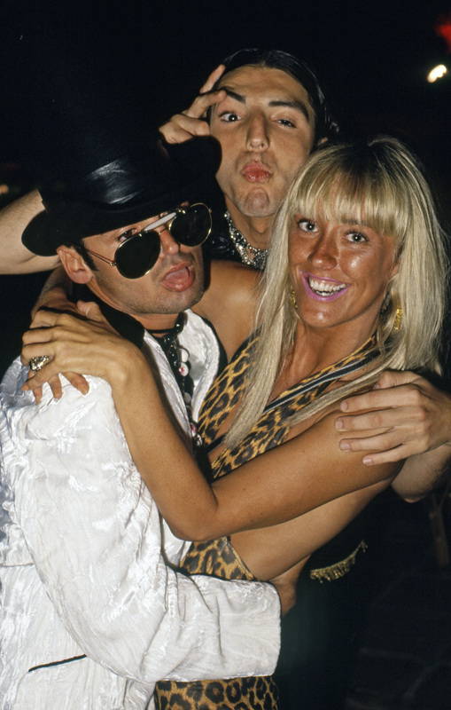 The Duchess of Norwood and friends in Ibiza, 1989