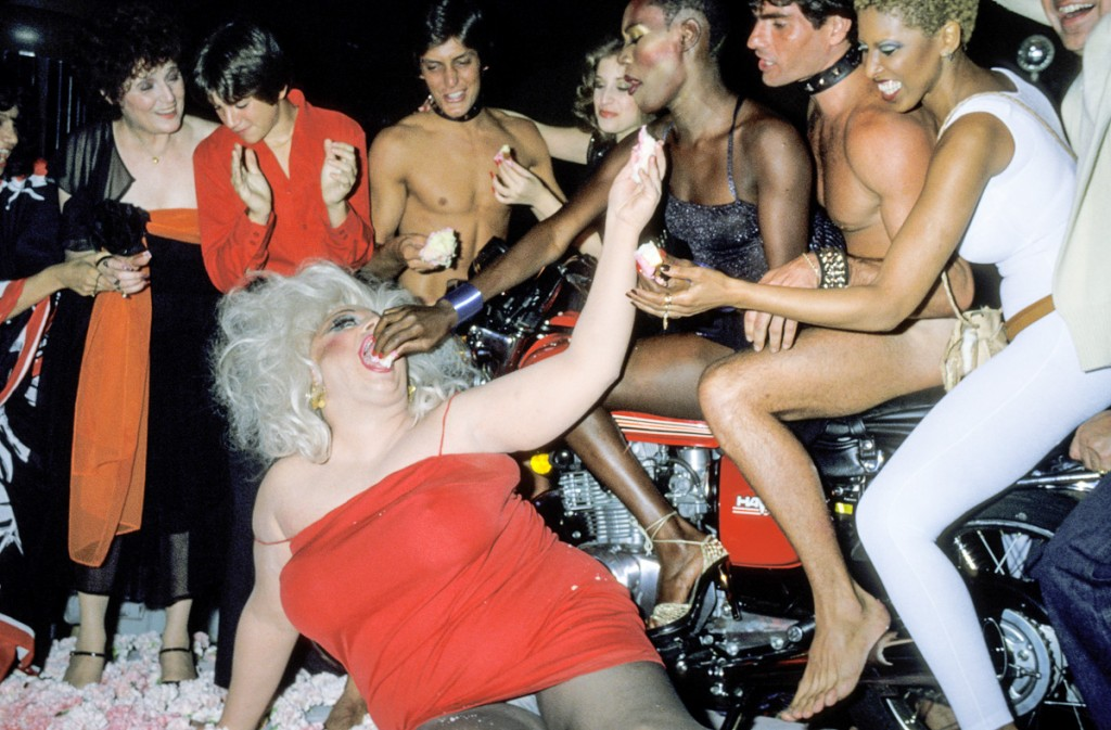 Divine, Grace, Jones, and friends (Photo by Ron Galella/WireImage)
