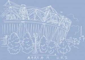 Jane Smith's Olympic Stadium drawing