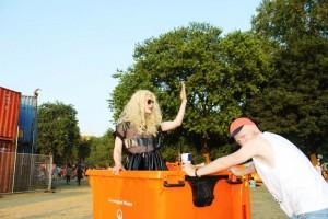 Jon Benet in a wheelie bin